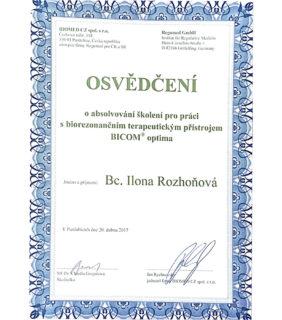 Certifikát Bicom Optima 2017 – Barvy života